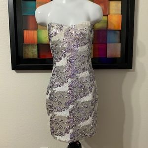 Trixxi Strapless Sequin Dress Size 11